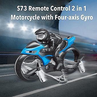 التحكم عن بعد الدراجات النارية RC دراجة نارية بدون طيار اللعب مع 360 درجة دوران الانجراف دراجة نارية كهربائية للأطفال الأزرق