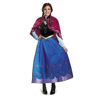 Adulto Princesa Anna Cosplay traje Navidad Cos Traje de Vestir elegante