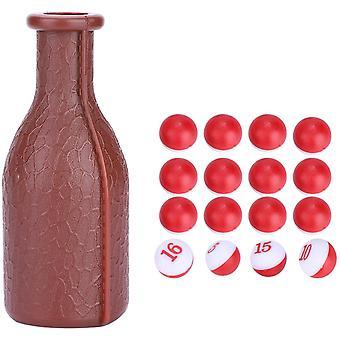 16 Accessoires de billard parfaits numérotés Dés de piscine en caoutchouc, Grande bouteille de shaker, Pour Kelly Pool, Piscines de pilules de pois Plus