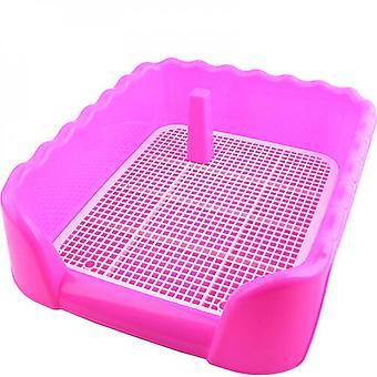 Câine de interior Catelus plastic olita de formare câine toaletă cu gard și țintă pet pee toaletă