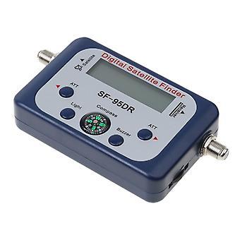 Pointeur satellite numérique / détecteur de détecteur de satellite professionnel Localisateur de signal Synchronisation du signal avec compass buzzer Lcd Fta