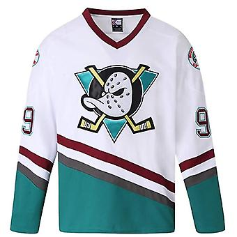 Mighty Ducks Movie Ice Hockey Jersey, 96 Conway Jersey, 66 Bombay 33 Goldberg 99 Banks Jersey, 90s Hip Hop Clothing For Party