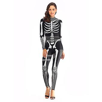 3d Fever Skull Print Body-storlek M