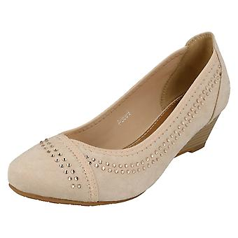 Ladies Anne Michelle Mid Wedge Court Shoes F9984