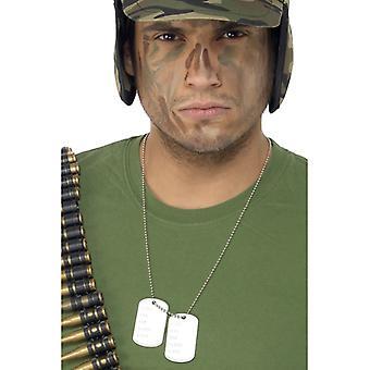 Dog tag collana ciondolo per il costume di soldato Rambo