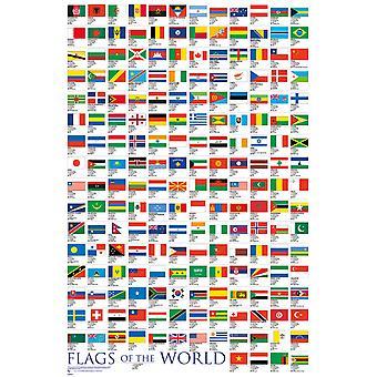 Drapeaux du monde Poster Maxi