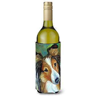 Sheltie Curiosity Wine Bottle beverage Insulator Hugger