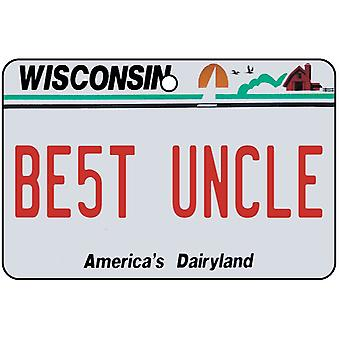 Wisconsin - Best Uncle License Plate Car Air Freshener