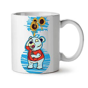 Oso de peluche nuevo blanco té taza de café de cerámica 11 oz | Wellcoda