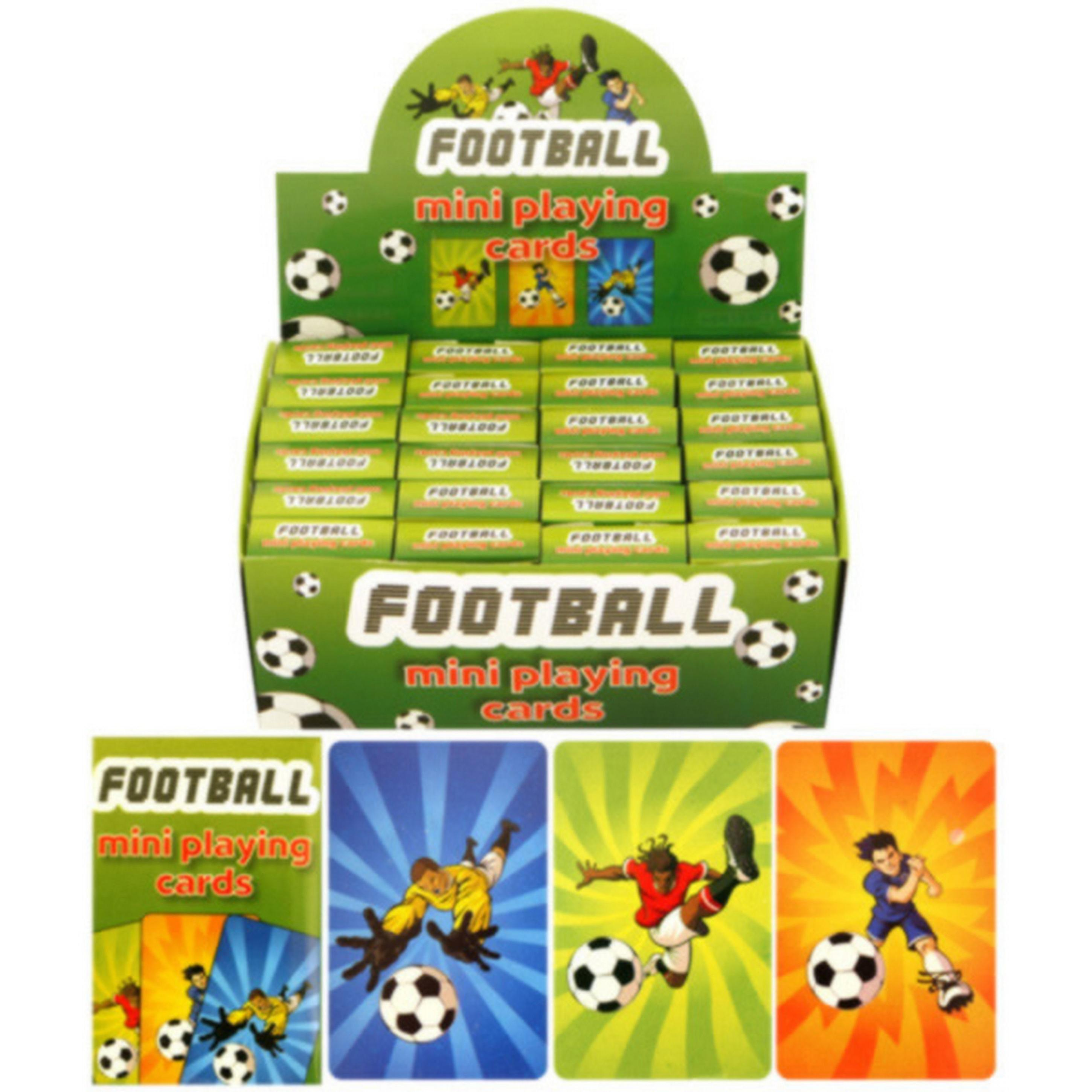 Henbrandt Childrens/Kids Football Design Mini Playing Cards (Box Of 24)