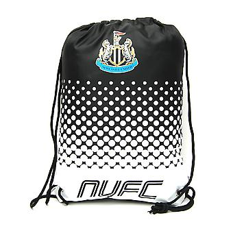 Newcastle United FC Official Fade Football Crest Drawstring Sports/Gym Bag