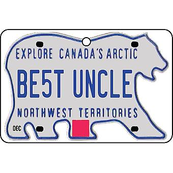 NORTHWEST TERRITORIES - Best Uncle License Plate Car Air Freshener