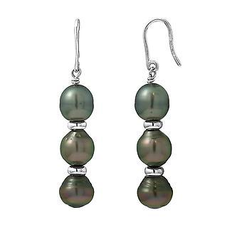 Øreringe;Ører Vedhæng Perler af Tahiti og Sølv 925/1000