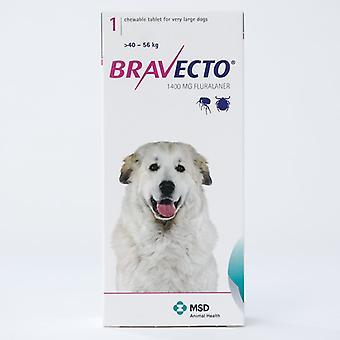 Bravecto 1400mg voor X-grote honden met een gewicht van 40-56kg (88-123lbs)