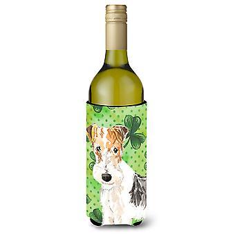 Botella de vino Beverge aislador Hugger de tréboles Fox Terrier