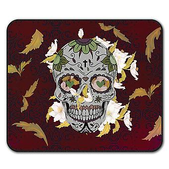 Cross Death Skull  Non-Slip Mouse Mat Pad 24cm x 20cm | Wellcoda