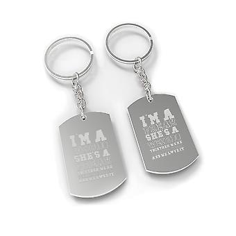 Weirdo Freak BFF Matching Gift Keychains Funny Sisters X-Mas Gifts