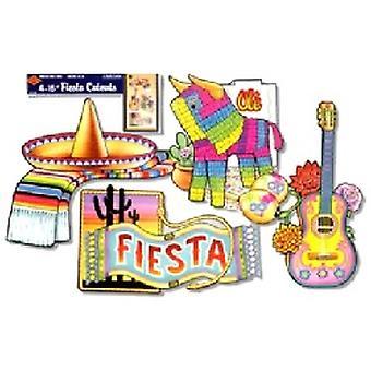 Fiesta-Ausschnitte (4/Pkg)