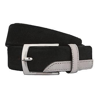 OTTO KERN belts men's belts leather belt leather black 2783