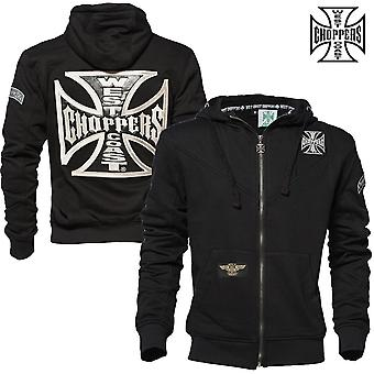 West Coast choppers Zip Hoodie cross Panel