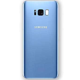 Cubierta de batería Samsung GH82 - 14015D galaxia S8 plus G955F + cinta adhesiva Blau