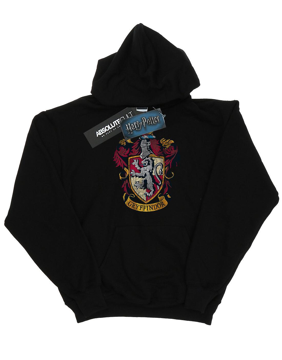 Harry Potter Boys Gryffindor Distressed Crest Hoodie