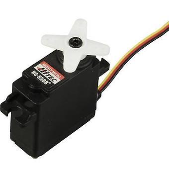Hitec Midi servo HS-85BB+ Analogue servo Gear box material: Polyamide Connector system: JR
