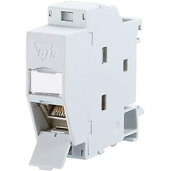 Metz Connect 1309107003-E Network outlet DIN rail CAT 6A Grey-white (RAL 7035)
