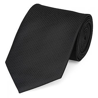 Kaulan tie kravatti sitoo niteen 8cm musta uni Fabio Farini huomasi