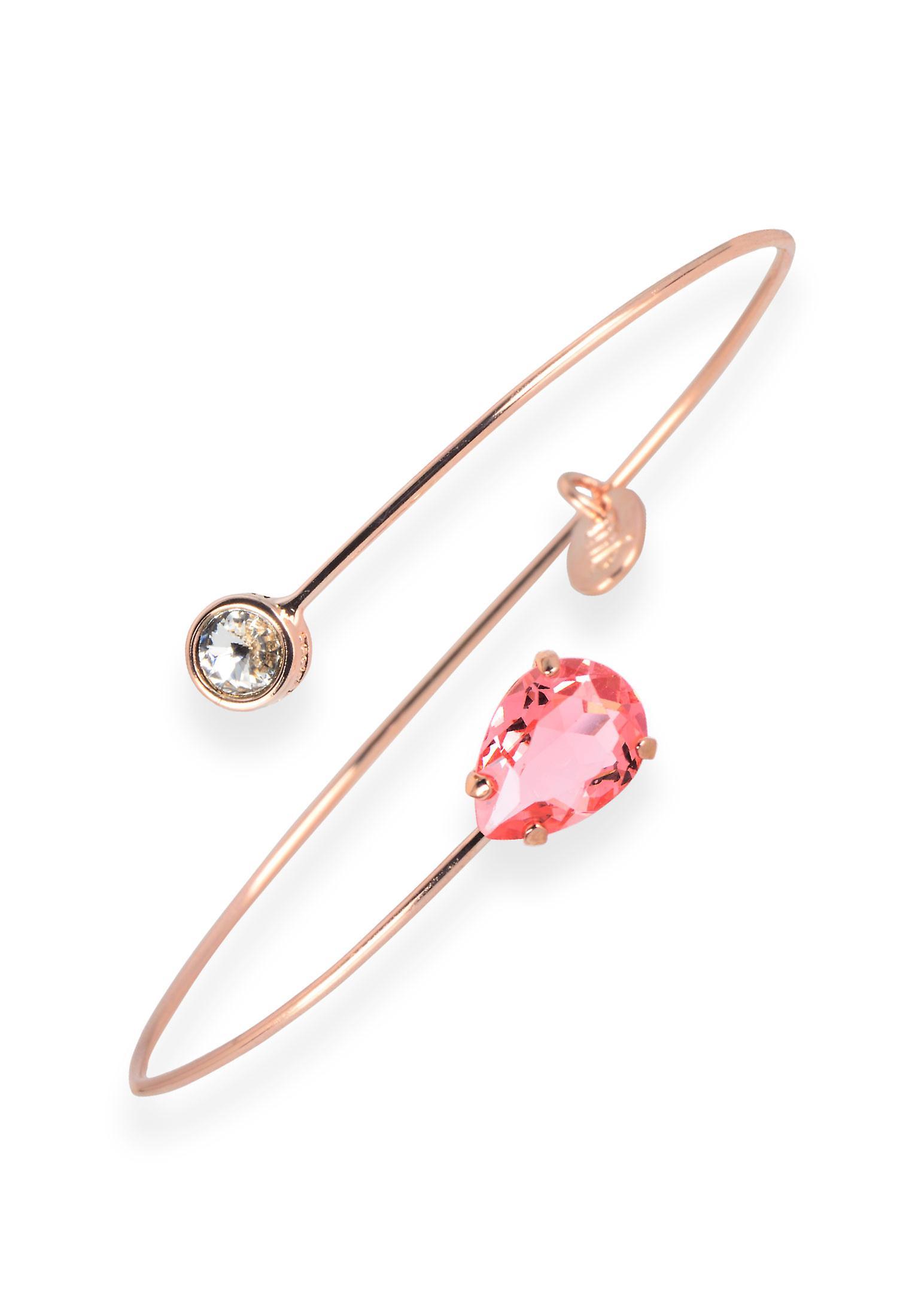 Pink bracelet with crystals from Swarovski 6224
