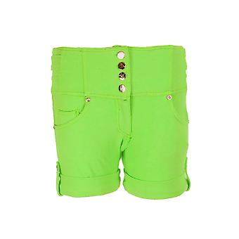 New Ladies High Waisted Coloured Denim Stretch Shorts Hot Pants for Women