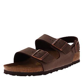 妇女伯肯斯托克米兰比尔科-弗洛尔海滩假日夏季条纹凉鞋