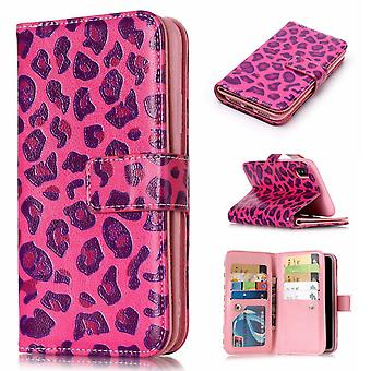 iPhone XS Max Cover 9 Slots-Rose Leopard