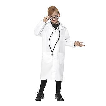 Lääkäri ja tiedemies puku, Unisex, pojat naamiaispuvut, normaali ikä 7-9