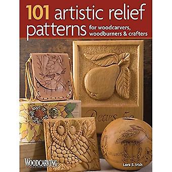 101 modèles artistique en Relief pour les sculpteurs sur bois, Woodburners & artisans (sculpture sur bois, livres illustrés)