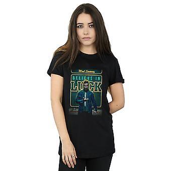 Amerikanska gudar kvinnors galna Sweeney tror på lycka pojkvän Fit T-Shirt
