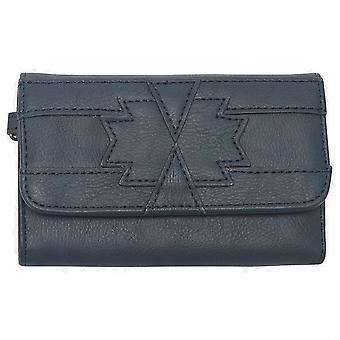 Animal Daydreamer Faux Leather Wallet in India Ink Blue