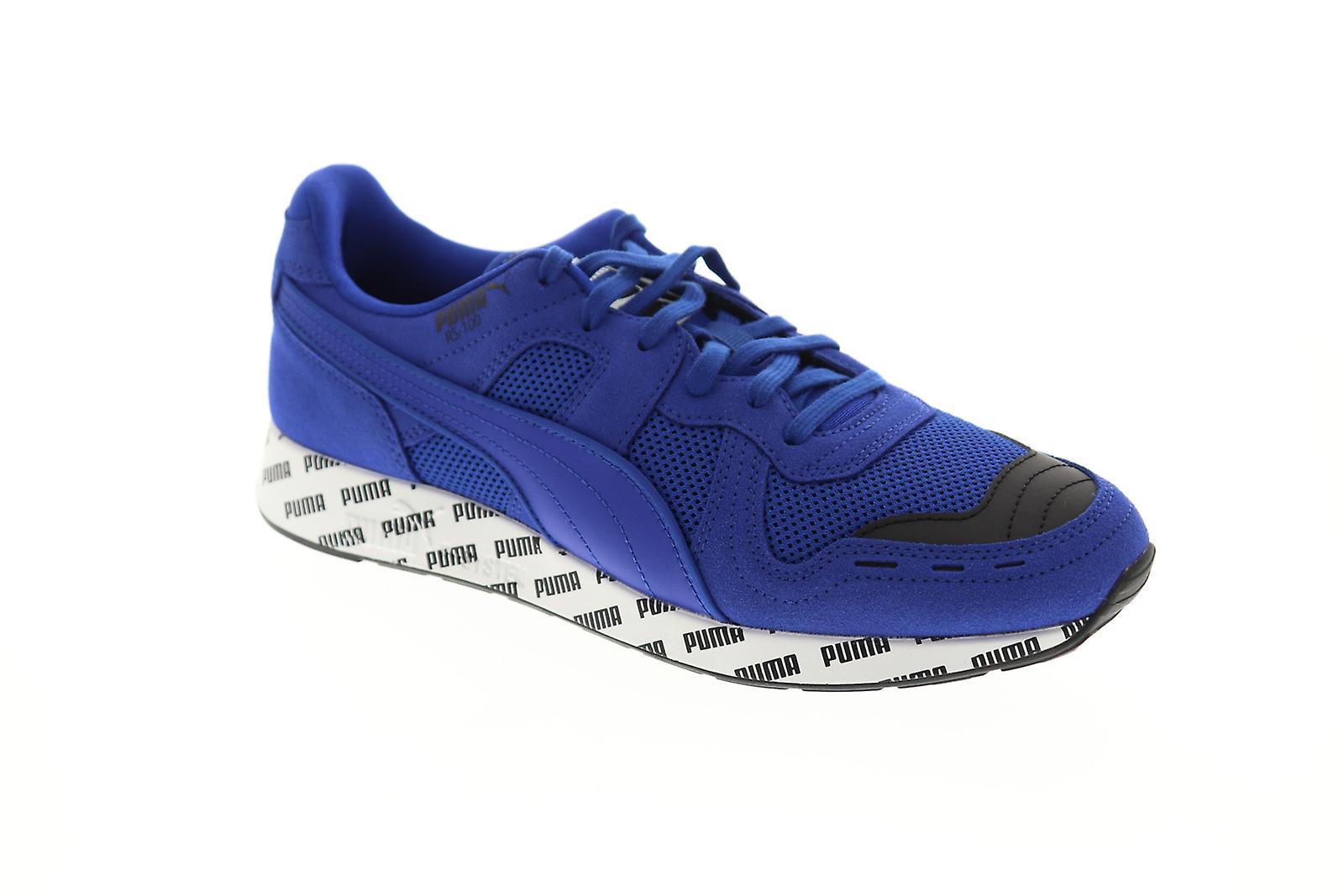 Puma RS-100 sommar mens blå mesh casual spetsar upp låg Top sneaker...