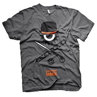 Mannen uurwerk oranje Bowler Eye losse fit T-shirt