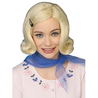 Bopper 1950s Short Blonde Retro Sock Hop Grease Elvis Women Costume Wig