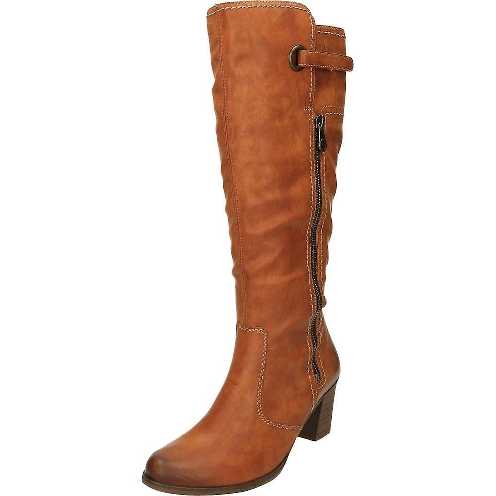 Rieker knä kantiga högklackade stövlar Y8980 24 Brown