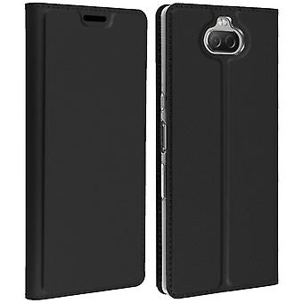 Sony Xperia 10 Folio Storage Card Case Support Function Dux Ducis black
