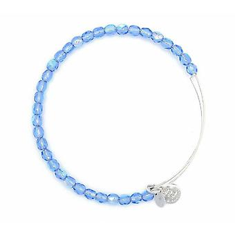 Alex and Ani Sky Rock Candy Beaded Silver Bangle BBEB176S