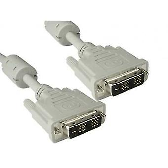DVI-D Single Link Cable Monitor Pc Video HDTV Cable Beige