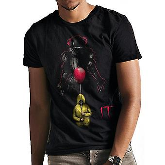 It Unisex Adults Lurking Pennywise Balloon Print T-Shirt