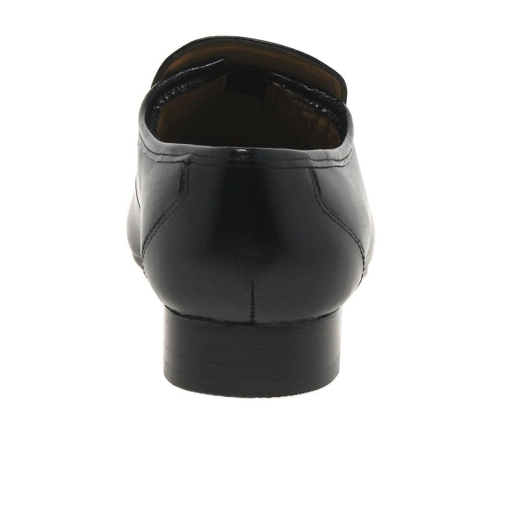 Rombah Wallace Regent Black Leather Formelle Slip På