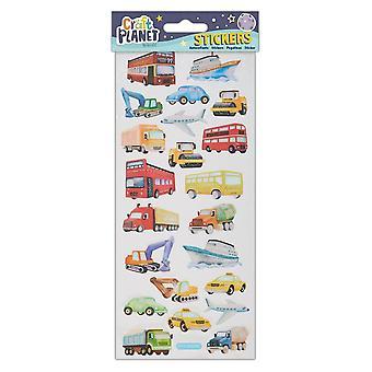 Craft Planet Transport Fun Stickers