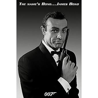 Affiche - Studio B - James Bond - The Name's Bond Wall Art P1536