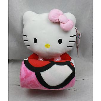 Huopa-Hello Kitty-Pehmo nukke & huopa (vaaleanpunainen keula) asettaa uusi fleece 68390