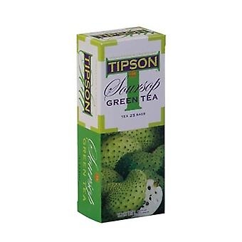 Tipson Green Tea With Soursop Fruit Flavour X 100 Bags